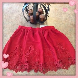 ♥️NWT pretty Tobi Red Mini Skirt ♥️